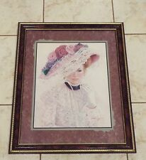 "Bettie Herbert Felder ""The Garden Party"" Victorian Lady Home Interiors Picture"