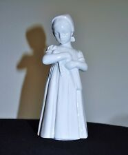Bing And Grondahl Mary Figurine Girl With A Doll All White Excellent