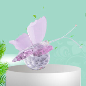 Crystal Butterfly Paperweight Glass Wedding Decoration Ornament Collectible Em