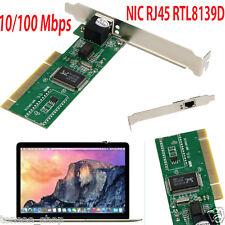 1PCS 10/100 Mbps RJ45 NIC Ethernet LAN PCI Karte Adapter für Desktop Computer