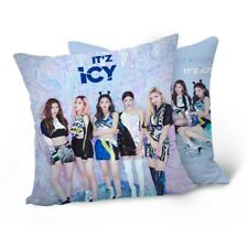 Kpop ITZY《IT'z ICY》Double-sided Photos Pillow Case Cotton Sofa Car Cushion Cover