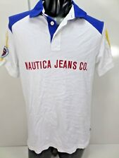 Nautica Jean Co. Men's Polo Shirt Size M, big  Spell out on Front