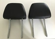 2007 BMW 530 E60 SPORT FRONT LEFT AND RIGHT SEAT HEAD REST HEADREST SET BLACK