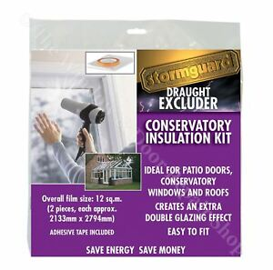 Stormguard Double Glazing Window Insulation Kit Shrink Draught Excluder 12 m²