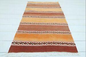 """Doormat, Turkish Maras Small Kilim Bathmat Small Carpet Teppiche Tapis 28""""x45"""""""