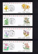 Ssbd_016 Korea 1993 4 Booklet Flora Flowers (2 Scans) Mnh Superb