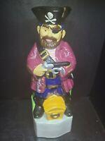 Vintage Alberta's Figural Ceramic Decanter Hand Painted pirate Man