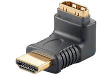 Goobay HDMI Winkeladapter Kupplung auf Stecker vergoldet oben