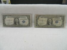 "1935 A $1 SILVER CERTIFICATES SURCHARGE NOTES (""R & S"") F-1609 & F-1610"