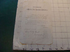 vintage paper: FITCHBURG MUTUAL FIRE INSURANCE CO. 1890 BILL has wear