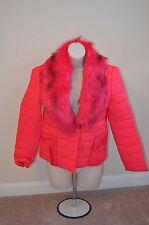 X FASHION Red Leisure Winter Jacket with Scarf Size XS