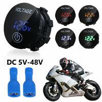 12V-24V LED Panel Digital Voltage Volt Meter Display Voltmeter Motorcycle Car US