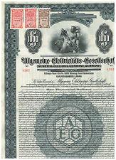 Allgemeine Elektricitäts-Gesellschaft (General Electric Co. Germany), 1925, 1000