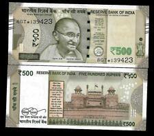 "Rs.500/- Urjit Patel  Star Note ""PLAIN"" Inset  Prefix 8GT  2017 - UNC  LATEST"