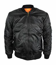 New Mens Military Army Reversible Air Force MA-1 Flight Pilot Bomber Coat Jacket