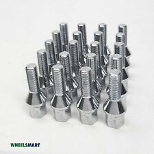 20Wheel bolts 12x1.25 thread V-Taper suit Peugeot Citroen Alfa Romeo Fiat 30mm
