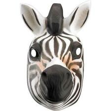 Plastic Zebra Child Animal Face Mask