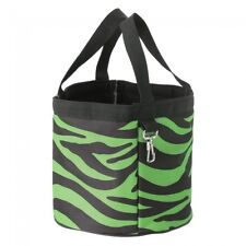 Tough-1 Final Touches Grooming Caddy In Prints --NEON GREEN ZEBRA