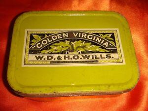 Vintage 1960's Golden Virginia Tobacco Metal Box, Made in England