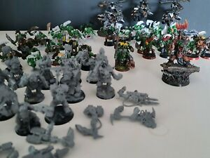 Warhammer 40k ork Armee / orkz Army 40000 Boss, Boyz, KillaKopta Flyer, Ork Nobz