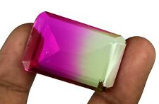 Ametrine Bi-Color Loose Gemstone 52 Ct Brazilian Emerald Cut IGL Certified B130