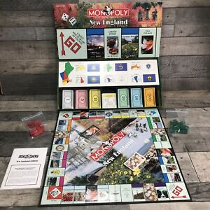 New England Edition MONOPOLY 2001 Hasbro RARE Complete Excellent Condition
