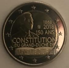 Pièce 2 euro LUXEMBOURG 2018 UNC 150 ans de la Constitution Luxembougeoise