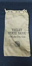 Vintage Valley State Bank Salt Lake City, Utah Deposit Bag