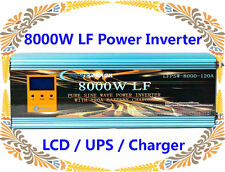"""32000W/8000W LF Pure Sine Wave 12V DC/230V AC Power Inverter 3.5""""LCD/UPS/Charger"""