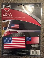 Auto Drive Car Decals Stickers United States Flag USA New in Package