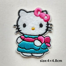Cute Hello Kitty Embroidered Iron on patch Appliqué kids baby clothes decorate