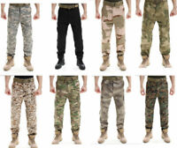 Mens Tactical Military Pants Army Combat Cargo Outdoor Pants Camouflage Hiking