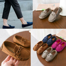 Infant Kids Boys Girls Loafers Solid Color Soft Bottom Breathable Casual Shoes