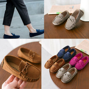 New Children Boys Girls Loafers Solid Color Soft Bottom Breathable Casual Shoes