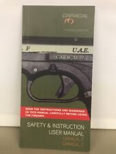 Caracal F & C Safety Insteuction And User Manual Automatic UAE Handgun Pistol W1