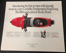 Vtg Honda Scooter Motorcycle Advertising Poster Elite 50LX 1988