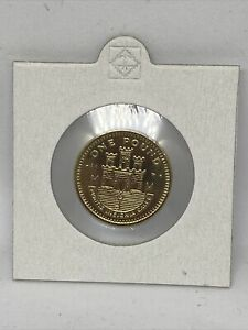 2002 GIBRALTAR £1 1 POUND ONE COIN GIBRALTAR CASTLE AND KEY BUNC (AC DIEMARK)