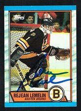 Rejean Lemelin #40 signed autograph auto 1989-90 Topps Hockey Trading Card