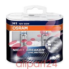 OSRAM 64150NBP-HCB H1 NIGHT BREAKER PLUS 2-pieces box DUO Box NIP
