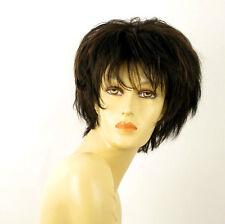 perruque femme 100% cheveux naturel carré méchée noir/cuivré CATE 1b30