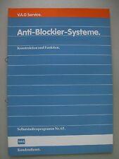 V.A.G. Service Volkswagen Anti-Blockier-Systeme Konstruktion Funktion 1984 Audi