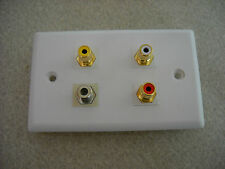 RCA + RF Wall Plate Home Theatre
