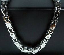 Cool Fashion Mens Stainless Steel 5mm Silver Tone Bike Chain Necklace 21.6""