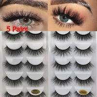 Natural Long Criss-cross 3D Faux Mink Hair Eye Lash Extension False Eyelashes