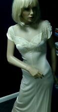 Vintage 30's-40's Night Gown Old Hollywood Cream/ Peach Tone Extacee Lingerie S