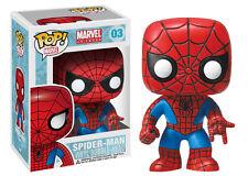 Funko Pop! Marvel #03 Amazing Spiderman Bobble Head Vinyl Action Figure Avengers