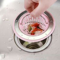 KM/_ Kitchen Bathroom Sink Sewer Strainer Filter Net Floor Drain Stopper Bath Cat