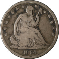 1864-S Seated Half Dollar Great Deals From The Executive Coin Company