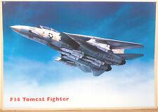 (PRL) AEREO CACCIA AVION JET F14 TOMCAT FIGHTER VINTAGE AFFICHE POSTER ART PRINT