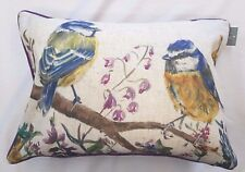 GARDEN SONG BIRDS BLUE TITS AVIARY OBLONG CUSHION COMPLETE WITH PAD £12.99 EACH